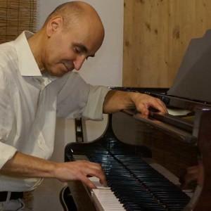Composer-producer Giuseppe Farace at his Kawai piano